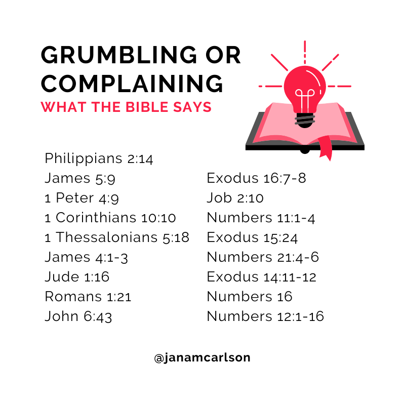 What the Bible Says About Grumbling or Complaining